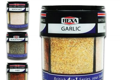 Hexa British 4 in 1 Table Seasonings
