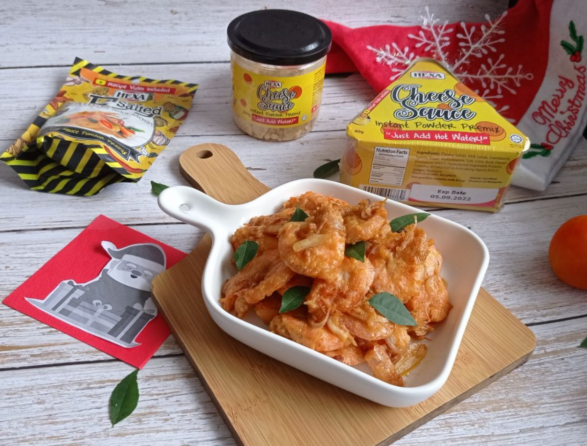 Salted Egg Cheese Prawn by yuyuandfoods 2