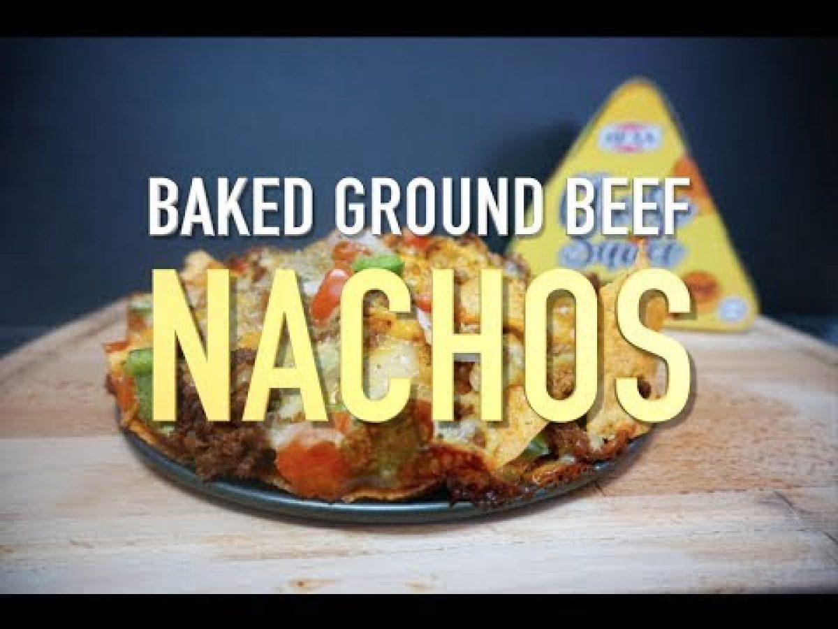 baked ground beef nachos